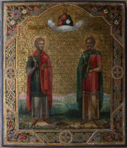 Реставрация иконы св. Косьма и Домиан